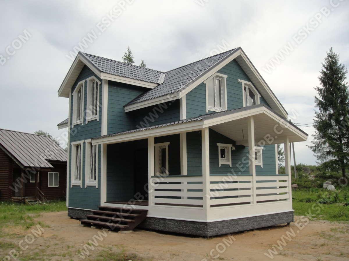 """Каркасный дом по проекту """"Егерь"""" в комплектации """"Люкс"""" плюс инженерный пакет."""