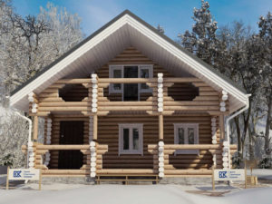 Новый проект дома из бревна «Сударь»
