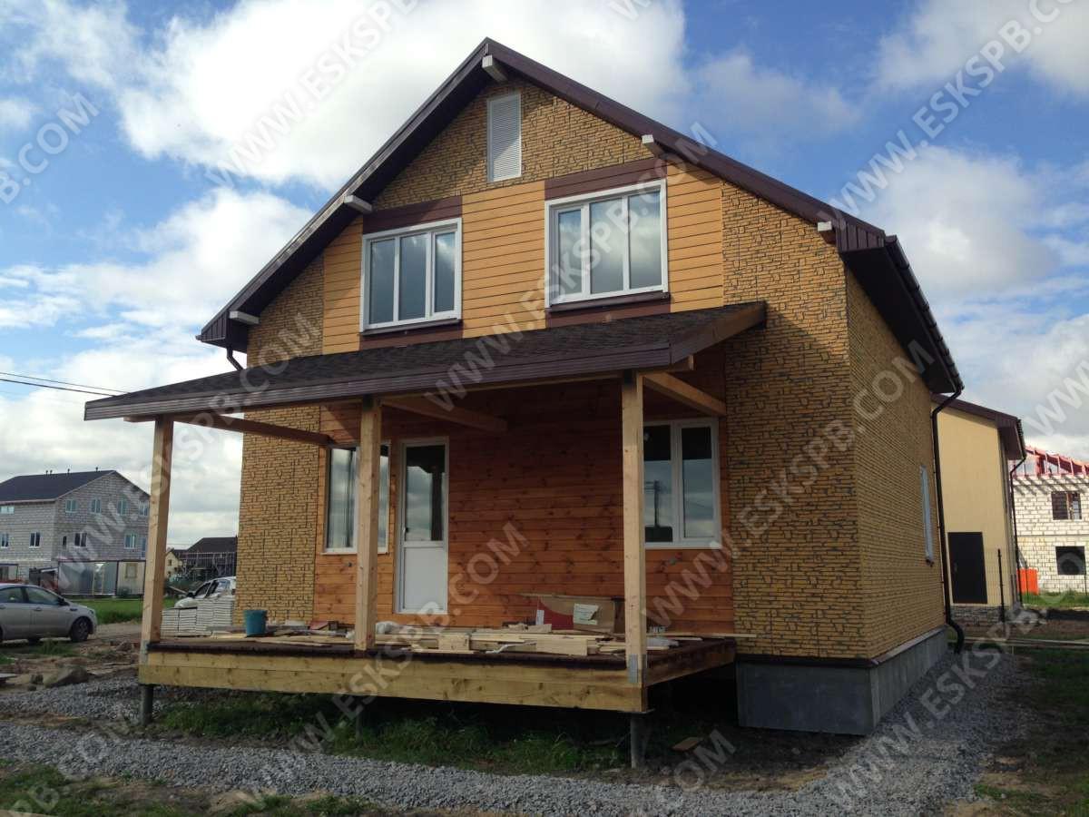 Каркасный дом по проекту индивидуальному проекту