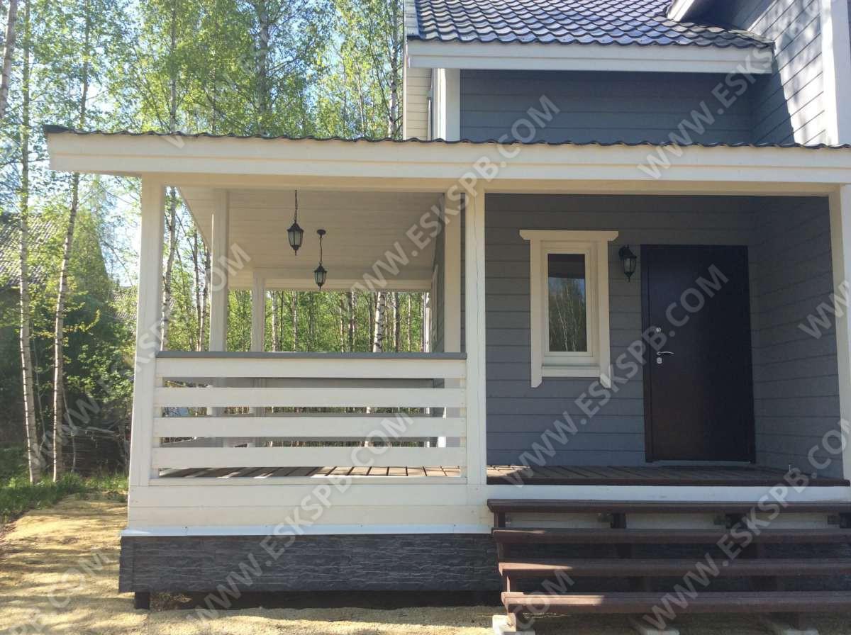 Каркасный дом по проекту Егерь в комплектации под ключ