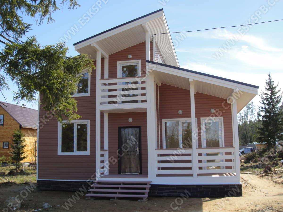 Каркасный дом по проекту Турку в комплектации под ключ