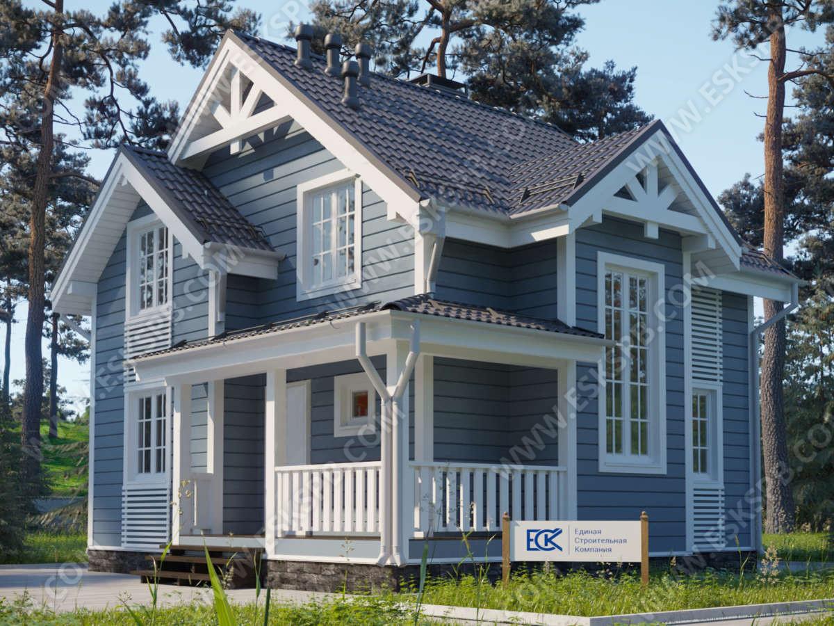 Новый проект каркасного дома «Кристалл»