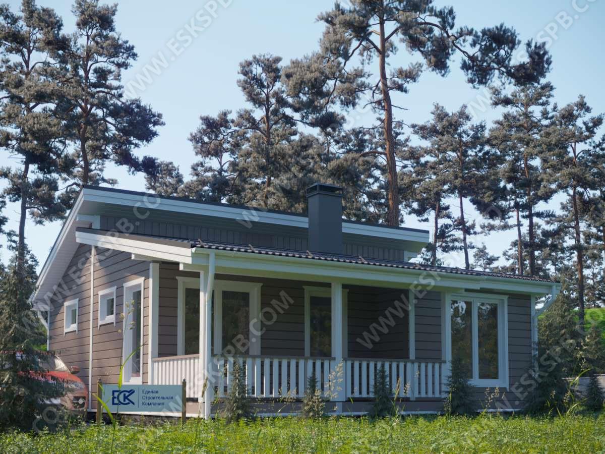 Новый проект каркасного одноэтажного дома «Июнь»