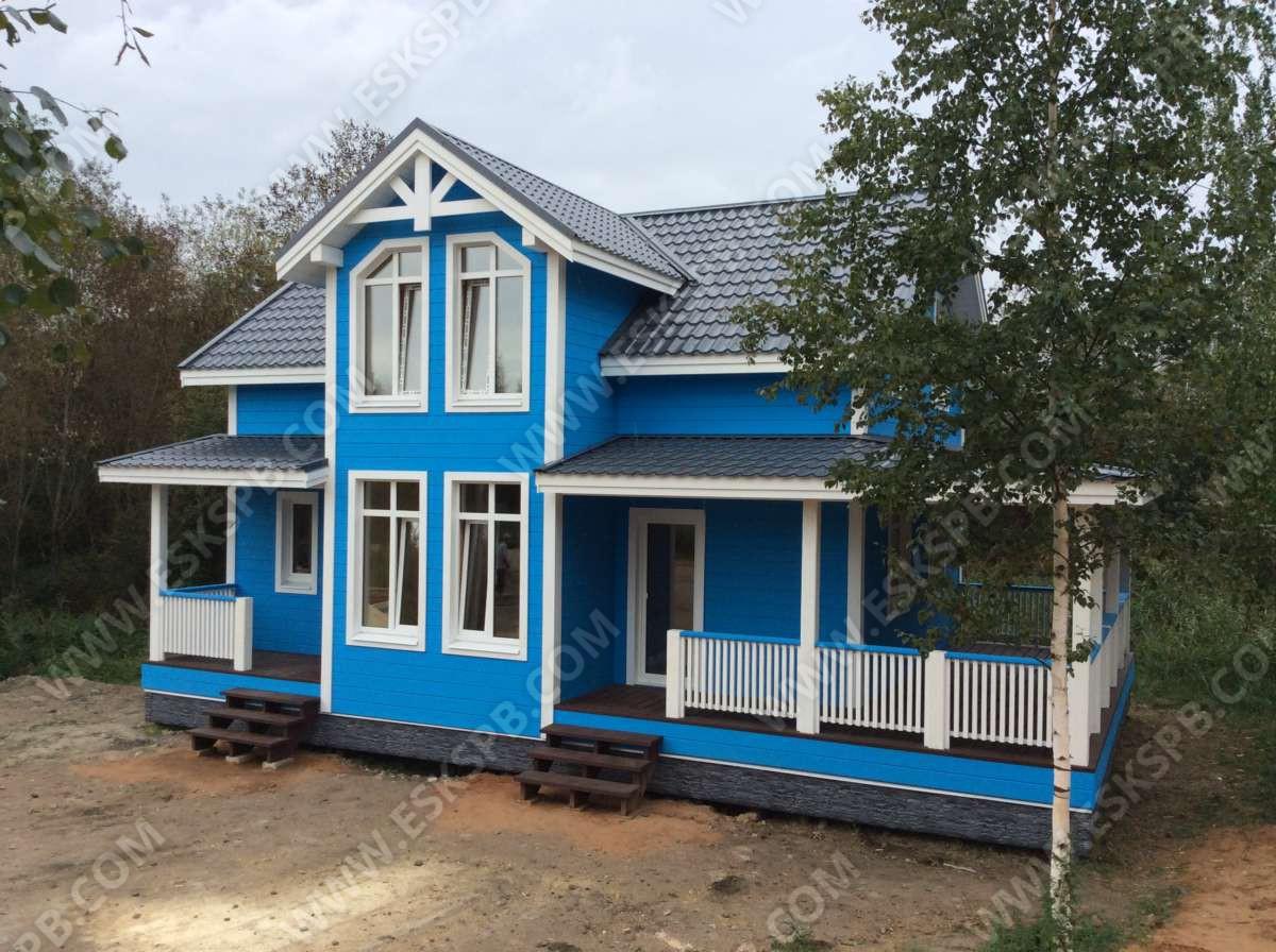 Строительство каркасного дома по проекту «Майский» в Дони