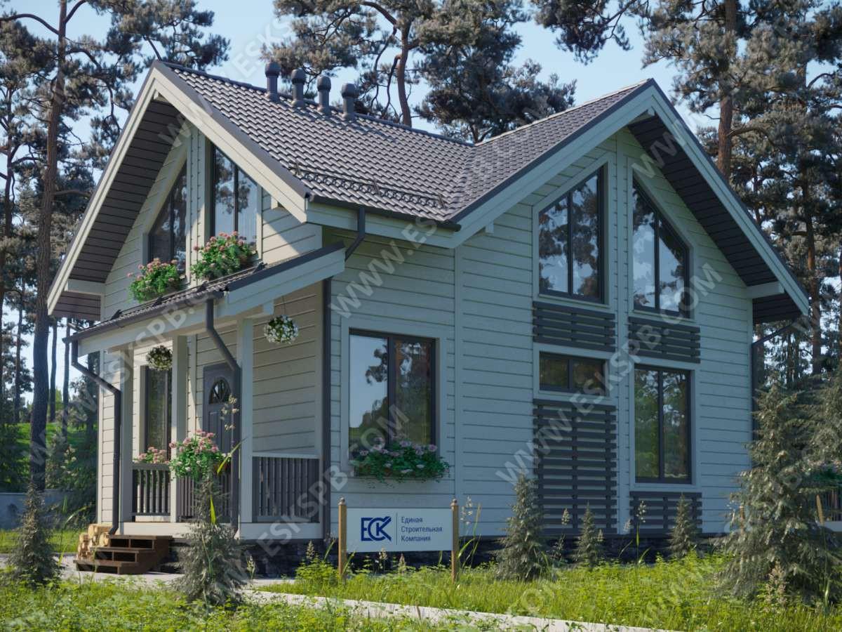 Новый проект каркасного дома «Камелия»