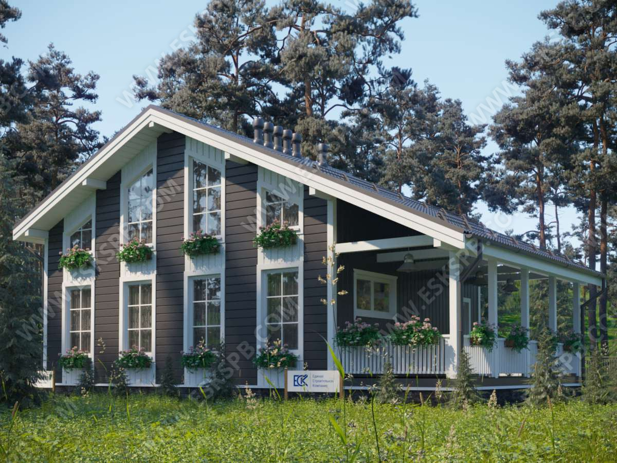 Каталог проектов ЕСК пополнился новым проектом каркасного дома «Гляссе»