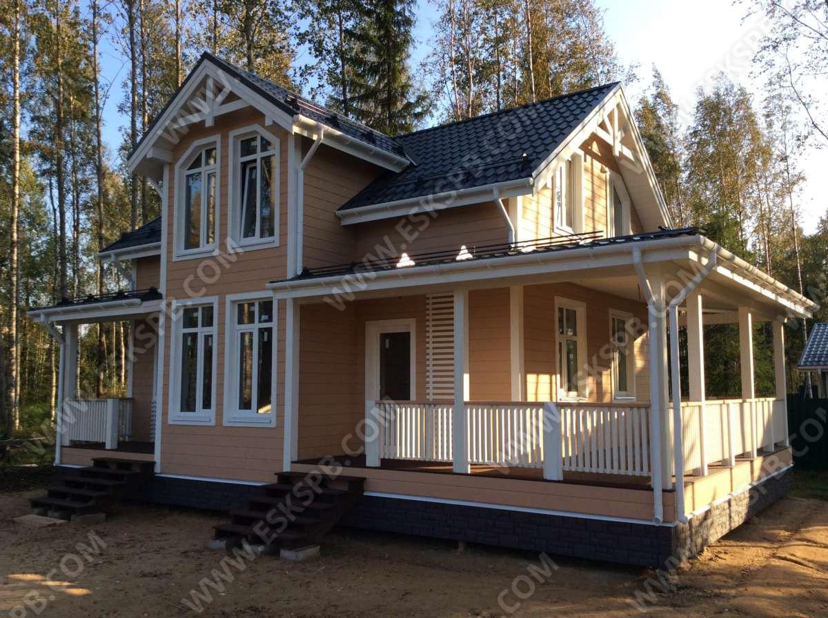 Строительство каркасного дома по проекту «Майский» в «Новых Дубках»