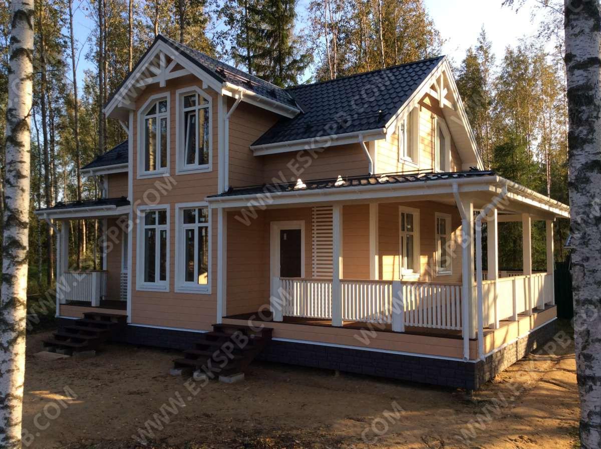 Завершена внутренняя отделка в каркасном доме по проекту «Майский» в Дубках.