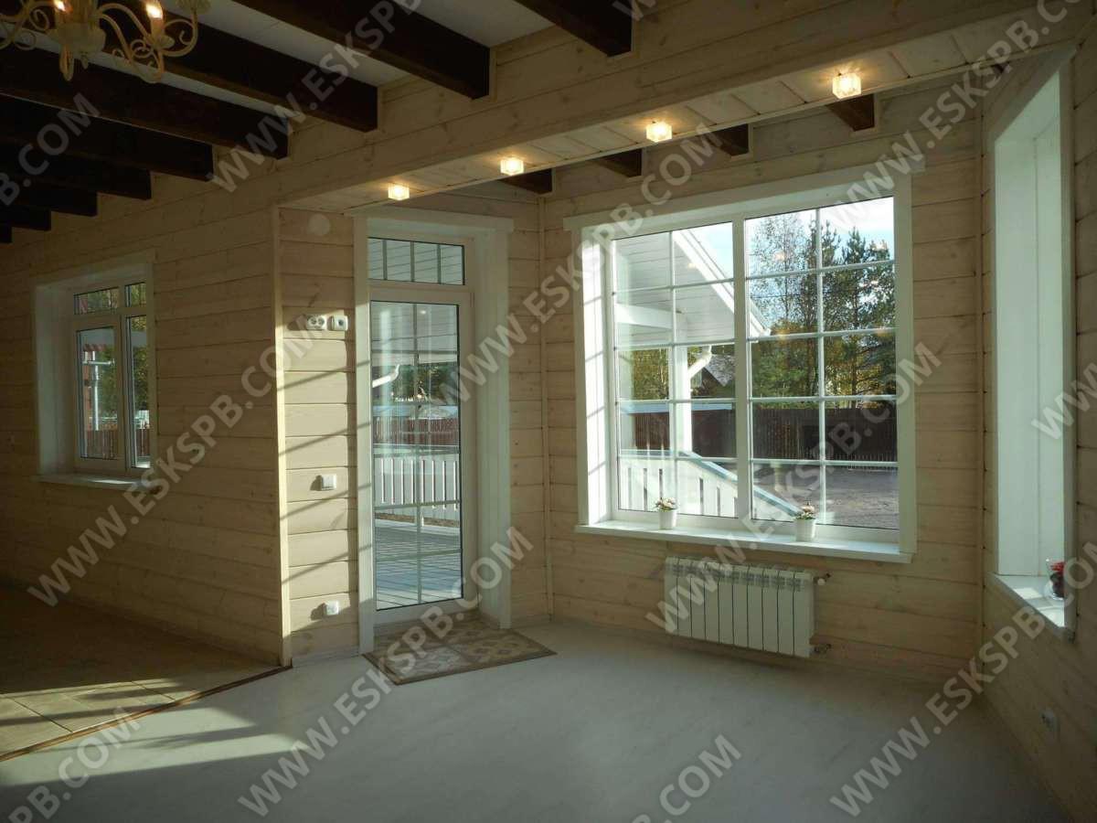 Каркасный дом по проекту Звезда в комплектации под ключ плюс инженерный пакет