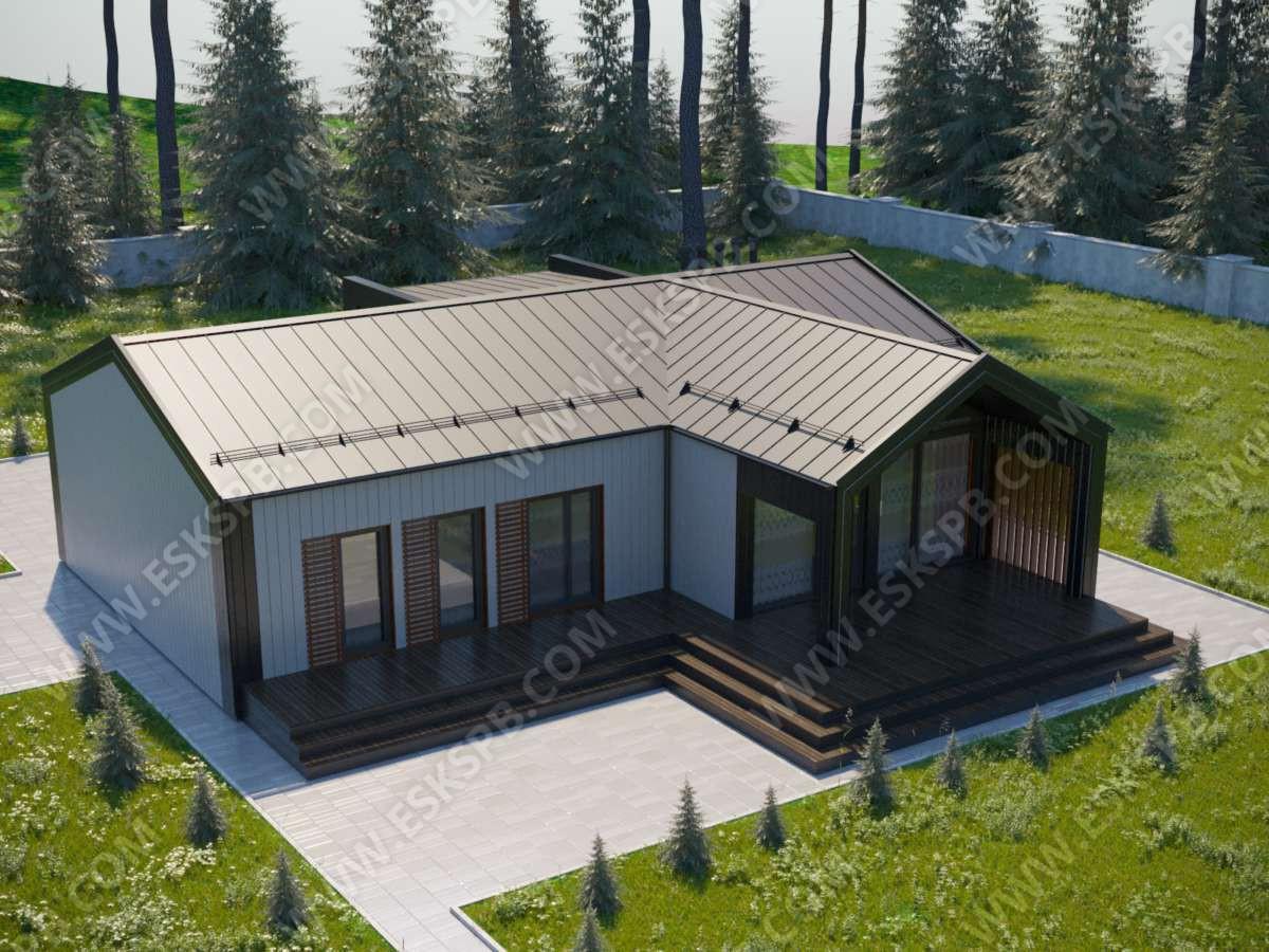 Строительство одноэтажного каркасного дома по индивидуальному проекту