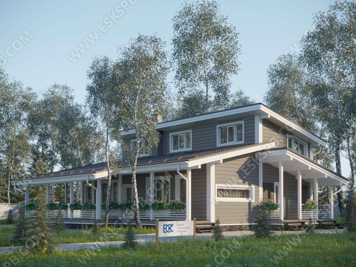 Новый проект каркасного дома «Иматра».
