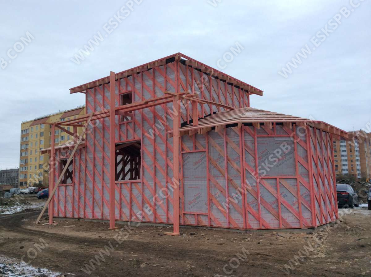 Строительство Храма Пророка Божия ИЛИИ в Гатчино.