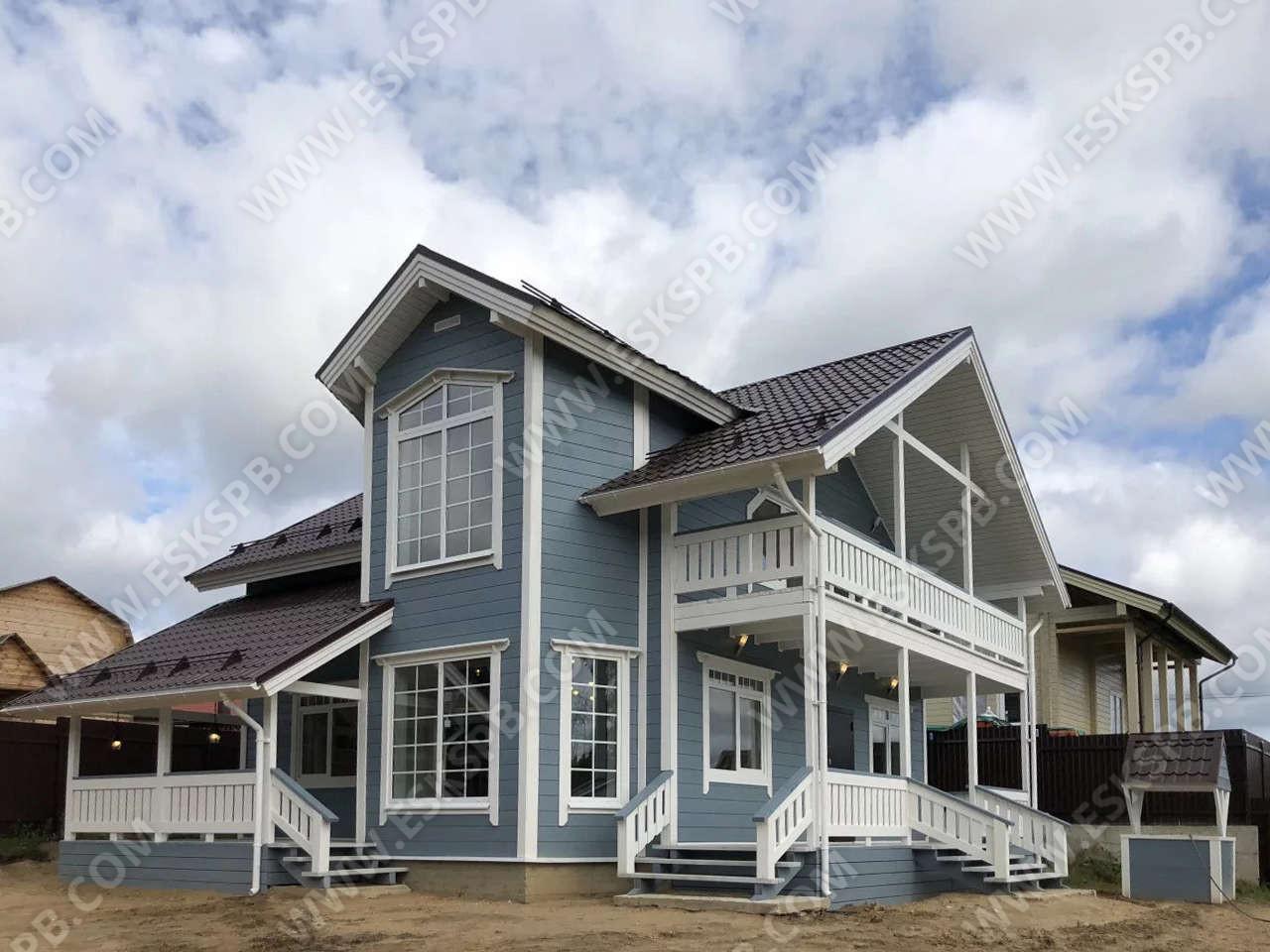 Каркасный дом по проекту Звезда