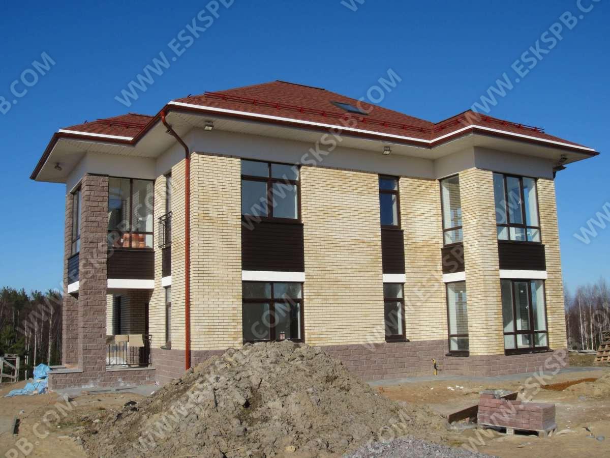Дом из газобетона по индивидуальному проекту в комплектации теплый контур