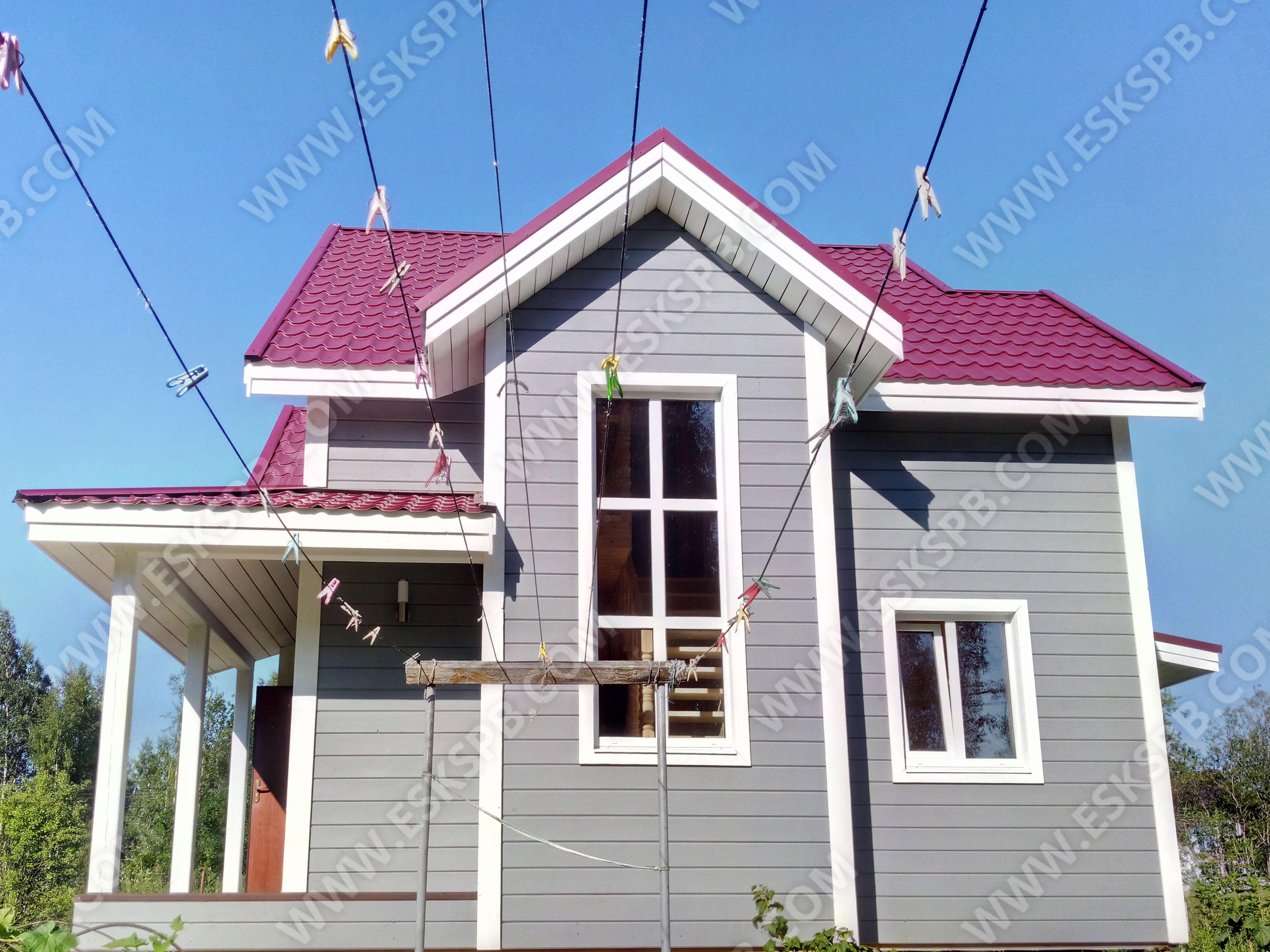 Каркасный дом по проекту Кристалл