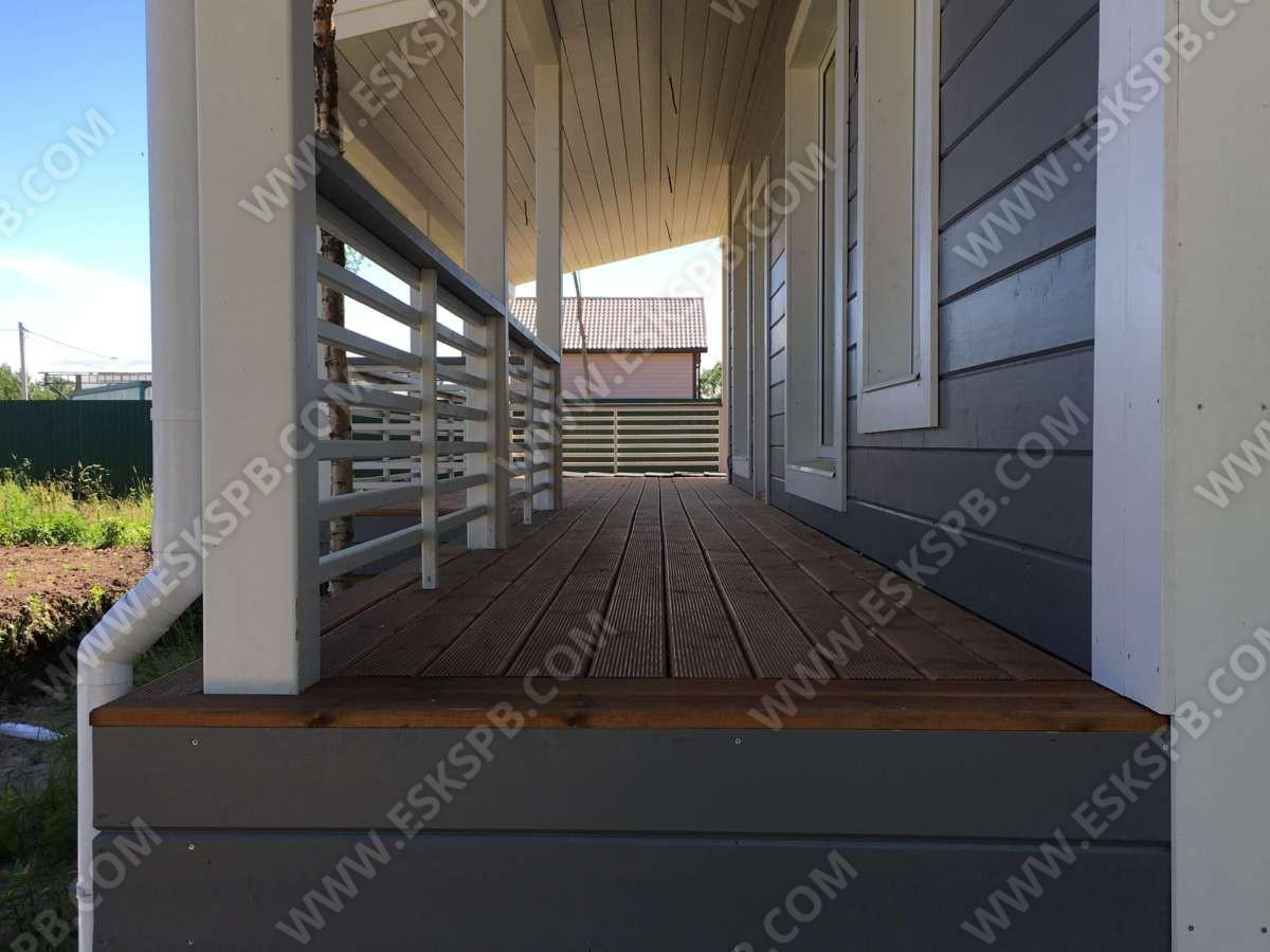 Каркасный дом по проекту Иматра в комплектации с отделкой