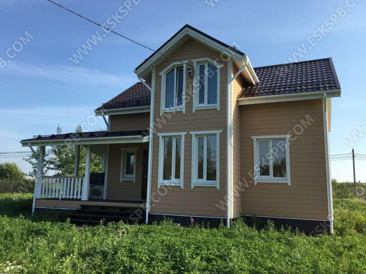 Каркасный дом по проекту Егерь в комплектации под ключ плюс инженерный пакет