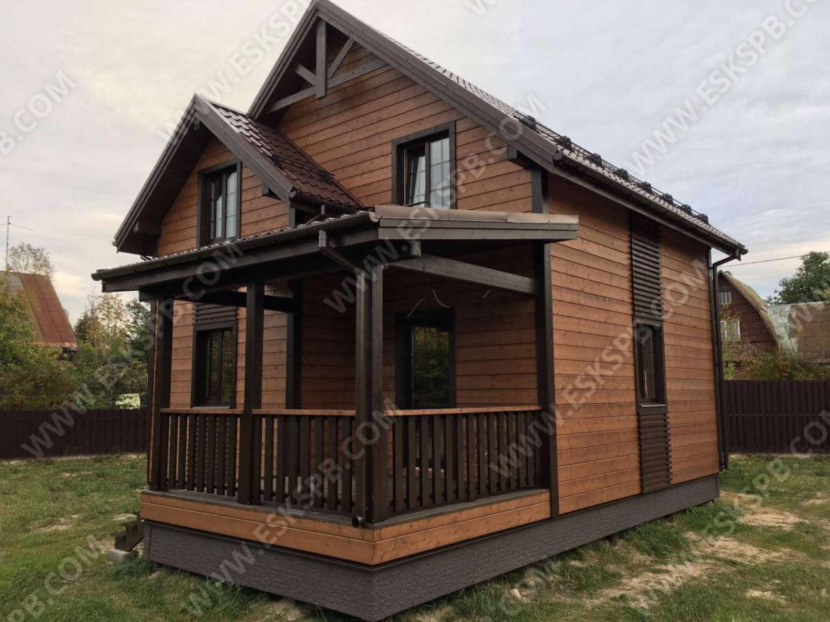 Каркасный дом по проекту Кристалл в комплектации под ключ