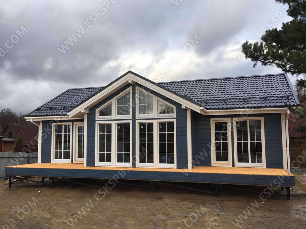 Каркасный дом по проекту Лотос в комплектации внешний контур
