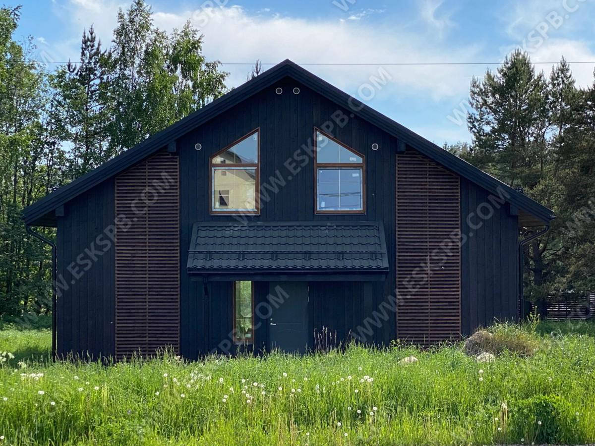Каркасный дом по проекту Стокгольм в комплектации с отделкой