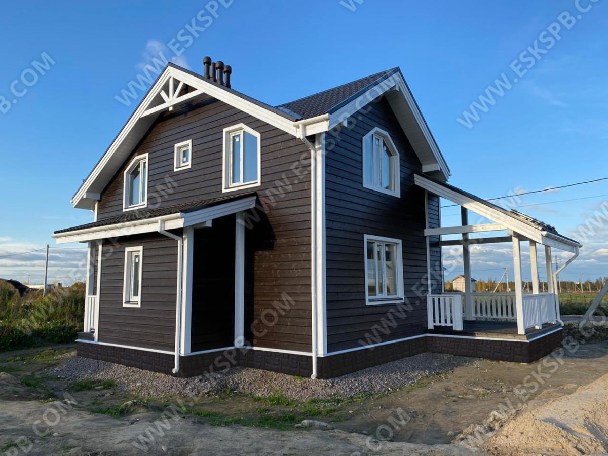 Каркасный дом в комплектации с отделкой