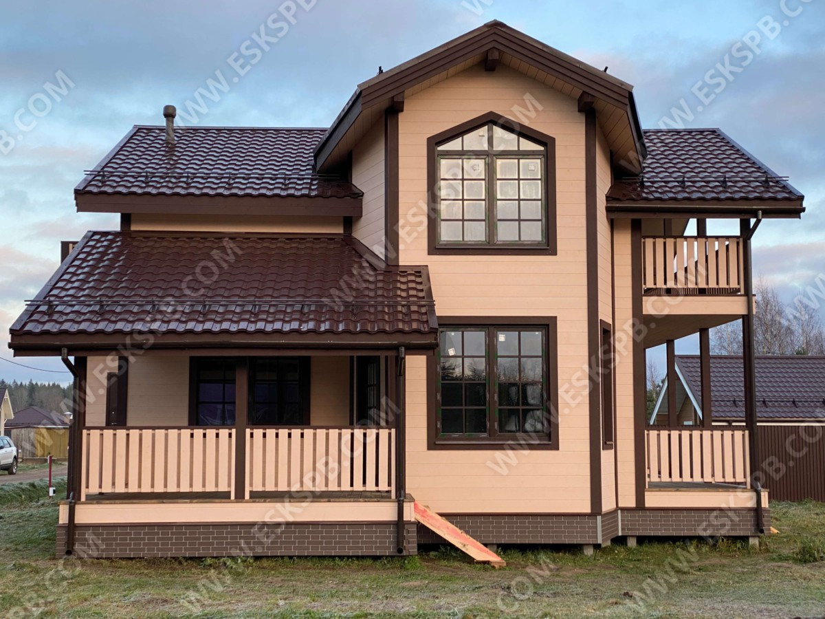 Каркасный дом в комплектации теплый контур