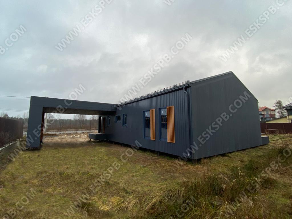 Каркасный дом по проекту Таллин в комплектации закрытый контур